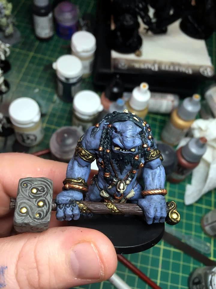 This is a painted Troll Miniature from Blood Rage