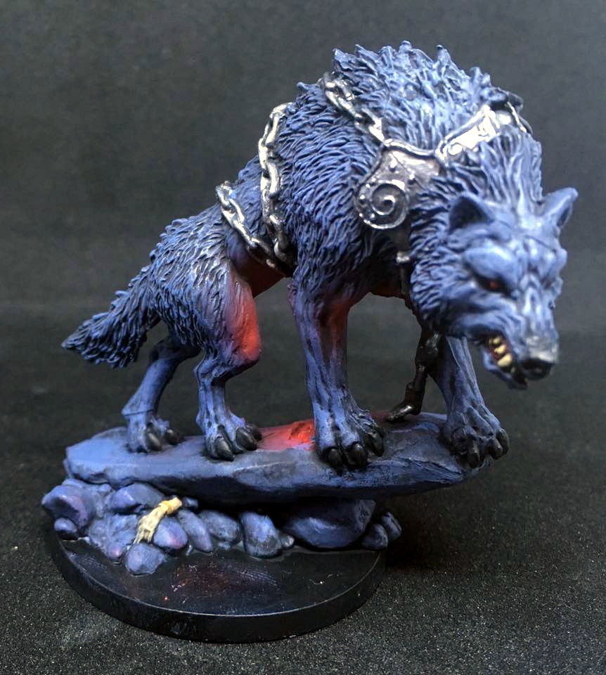 Painted Blood Rage Wolf Miniature