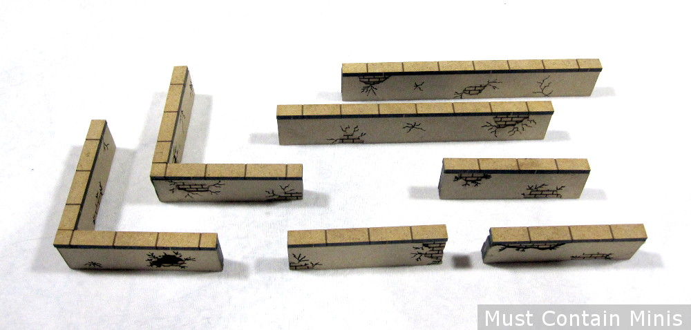 City Walls for 28mm gaming (WW2, Modern)