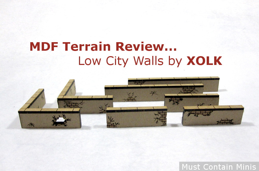 MDF Terrain Review: City Walls by XOLK (28mm)