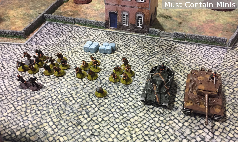 1000 Point German Army of two platoons with two tanks