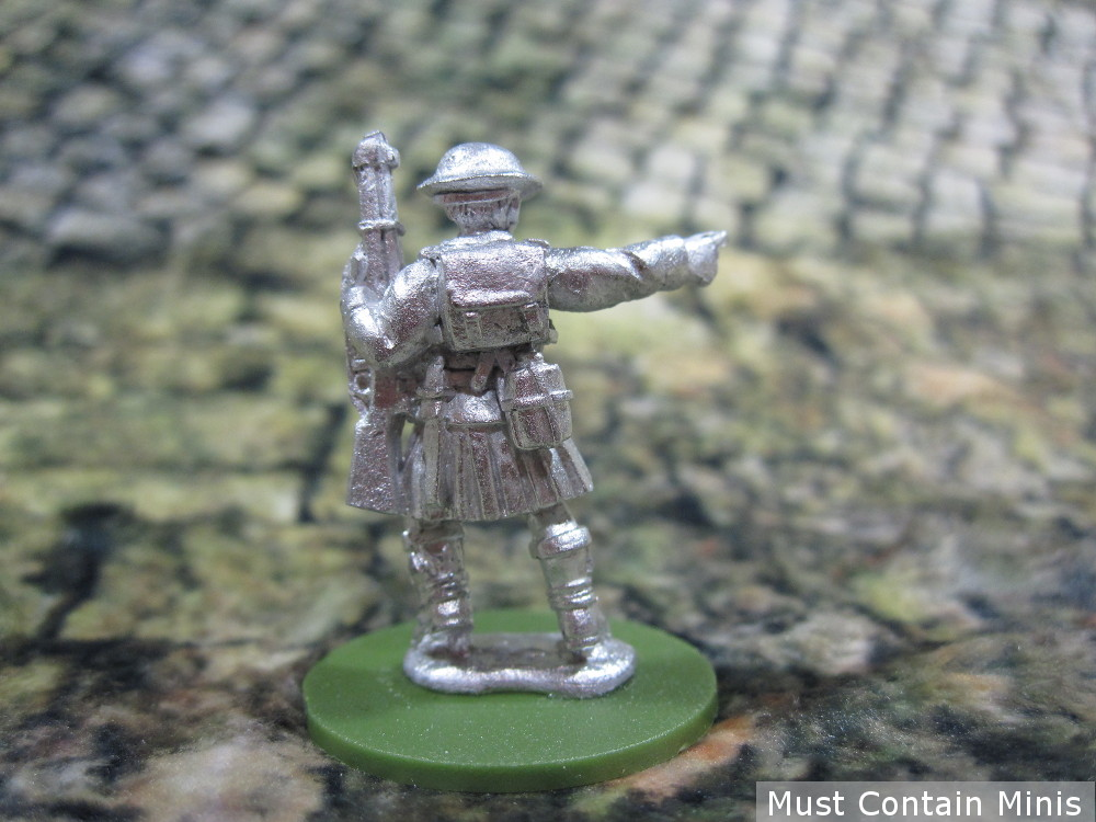 Back of a British Rifle miniature in a kilt (ww2)