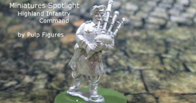 British Commanders in Kilts for Bolt Action (28mm WW2) by Pulp Figures