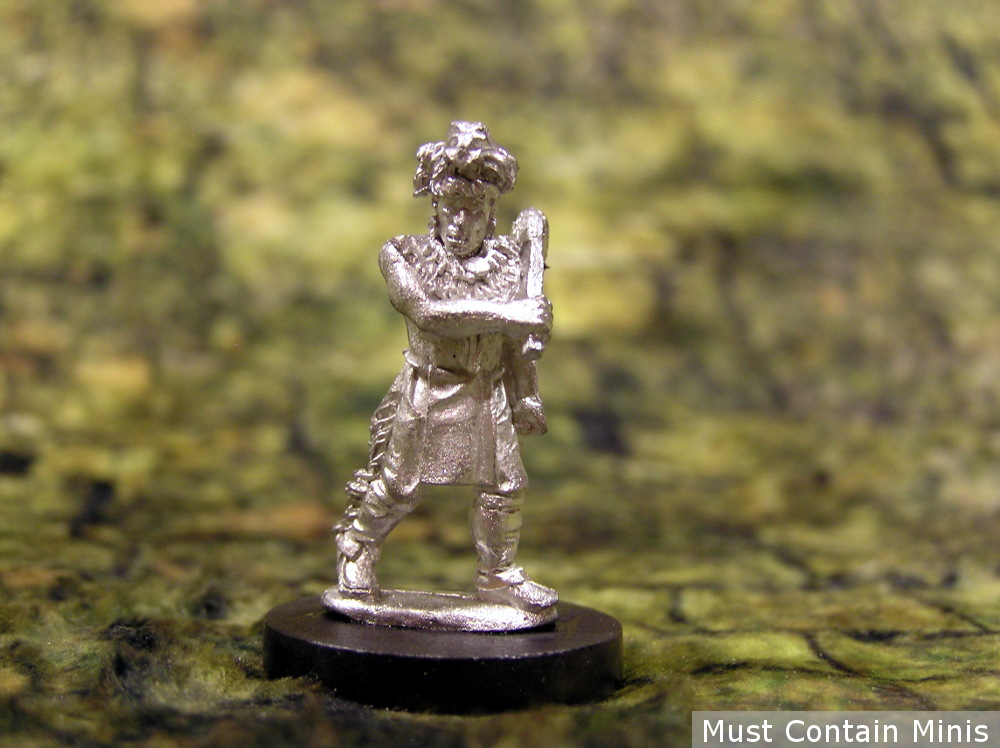 Miniature of a Native American Warrior with a Club