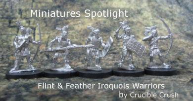 Spotlight on Flint and Feather Iroquois Warriors Miniatures