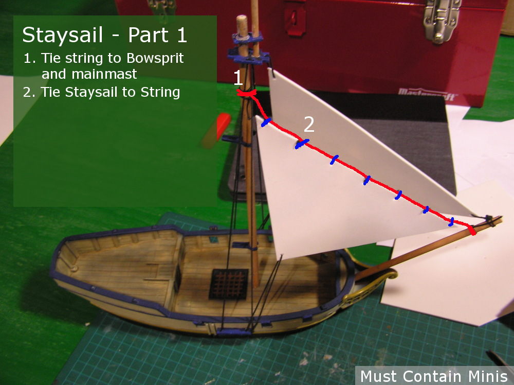 Rigging the Staysail on a 28mm to 32mm Sloop