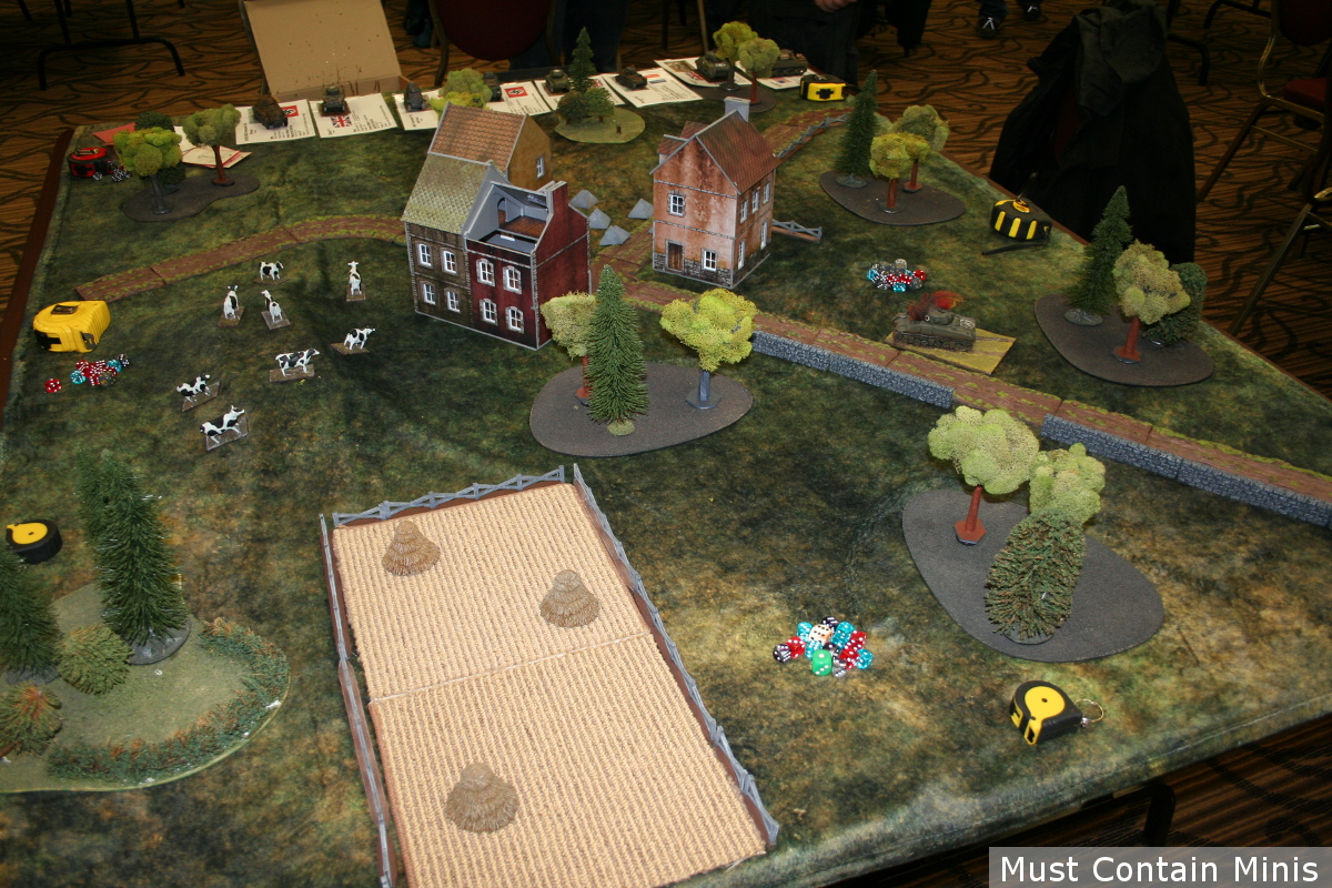 Bolt Action Tank War Demo Battle Table