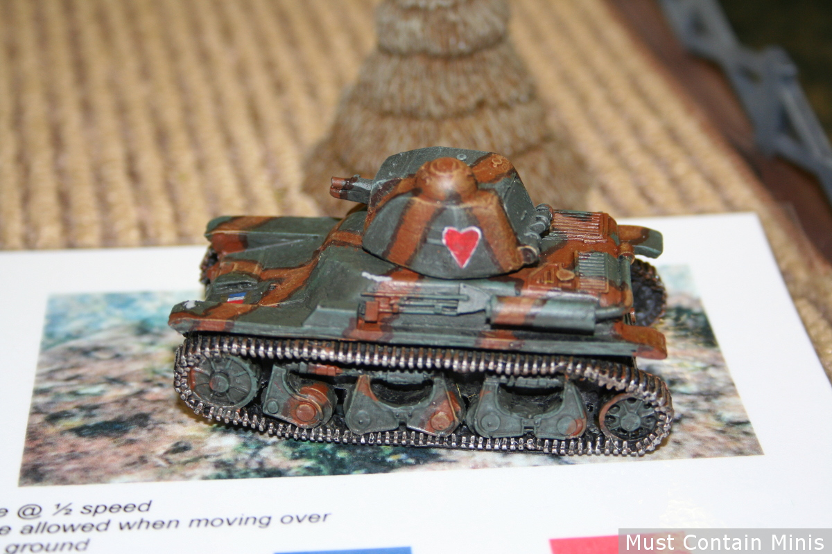 Bolt Action 28mm Renault R-35 Tank Miniature - French Tank