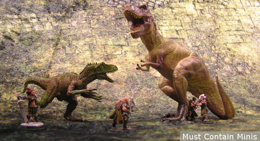 Frostgrave Ghost Archipelago Dinosaur Battle