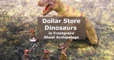 Dollar Store Dinosaurs in Frostgrave Ghost Archipelago