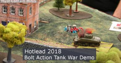 Bolt Action Tank War Demo at Hotlead 2018