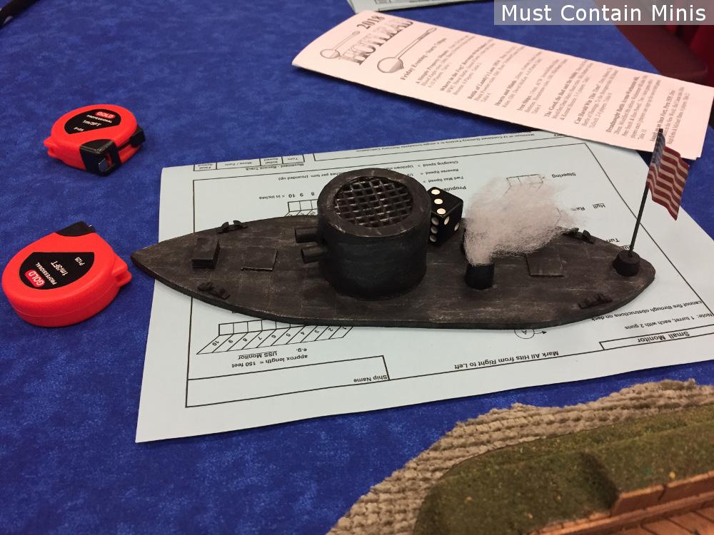 American Civil War Naval Miniatures Game - Union Ship