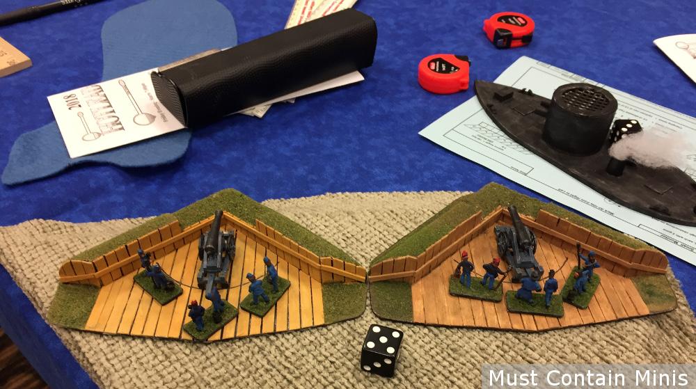 American Civil War Shore Defense Cannons - Miniatures