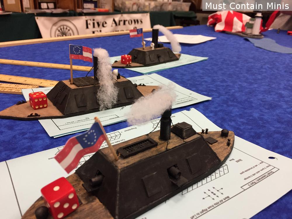 American Civil War Confederate Miniature Ships.