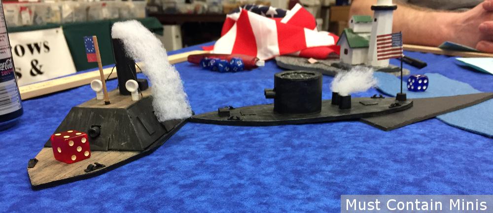 ACW Naval Combat Miniature Battle Report