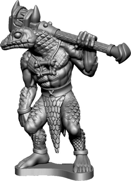 A Frostgrave Snakeman Savage