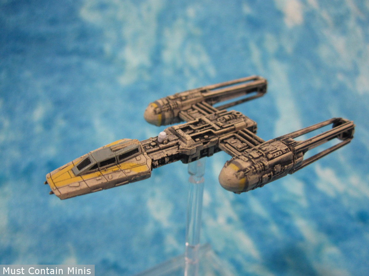 Y-Wing Miniature from the X-Wing Miniatures Game by Fantasy Flight Games - Showcase article