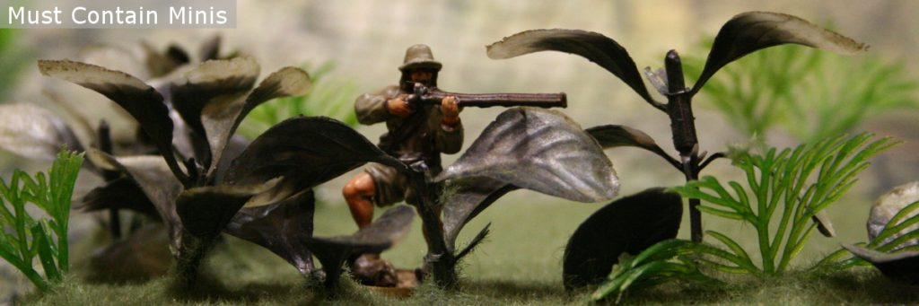 Blood and Plunder Boucanier miniature in the jungle