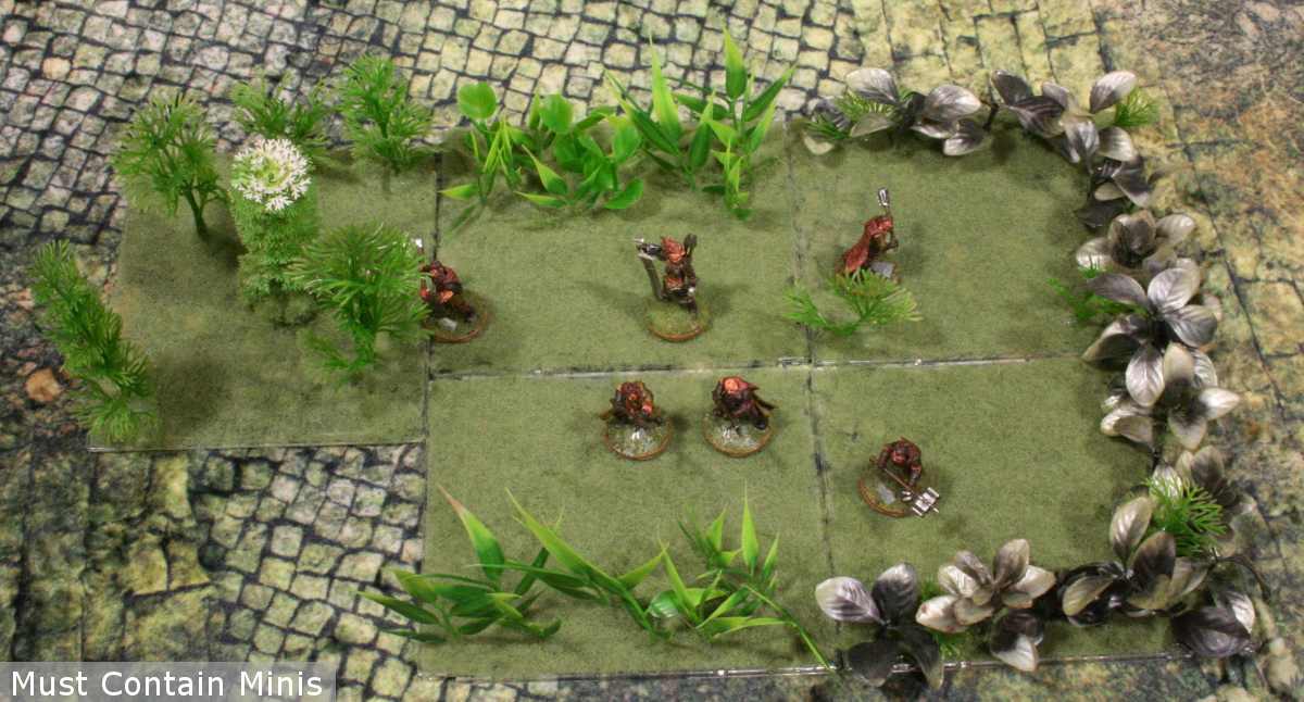 jungle courtyard terrain 28mm gaming