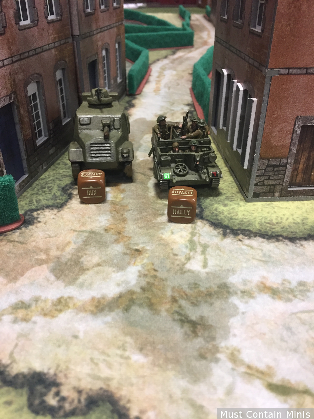 Light British vehicles in Bolt Action - Universal Carrier and an Otter