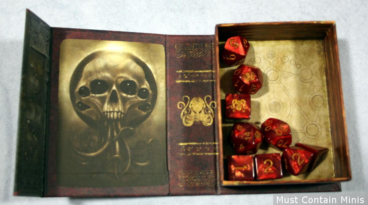 Cthulhu Elder Dice in their box.