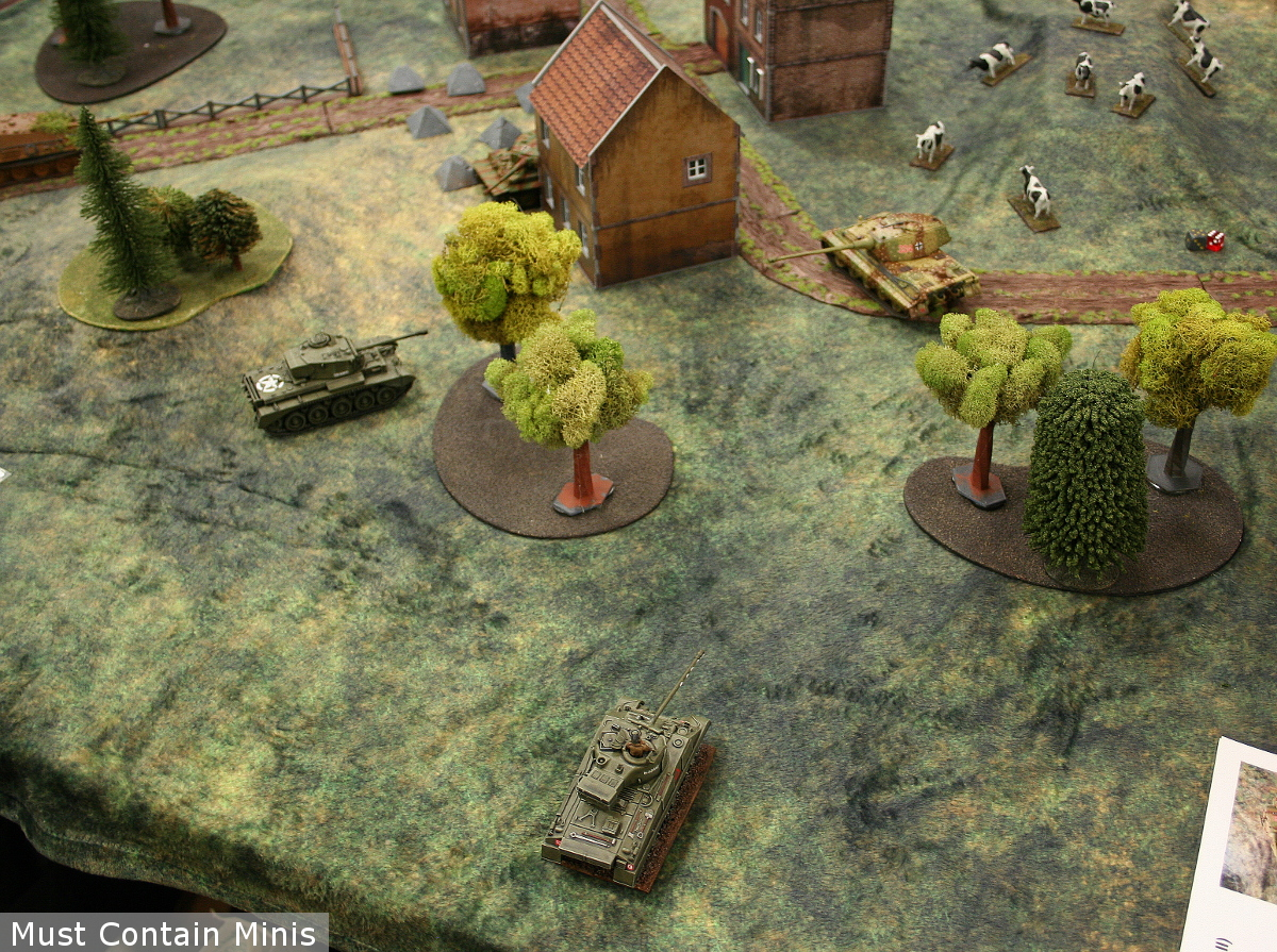 British Tanks vs a German Tiger and King Tiger in a Bolt Action Battle Report