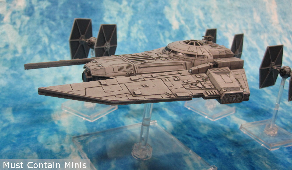 VT-49 Decimator with TIE Fighter Escort in X-Wing the Miniatures game by Fantasy Flight Games