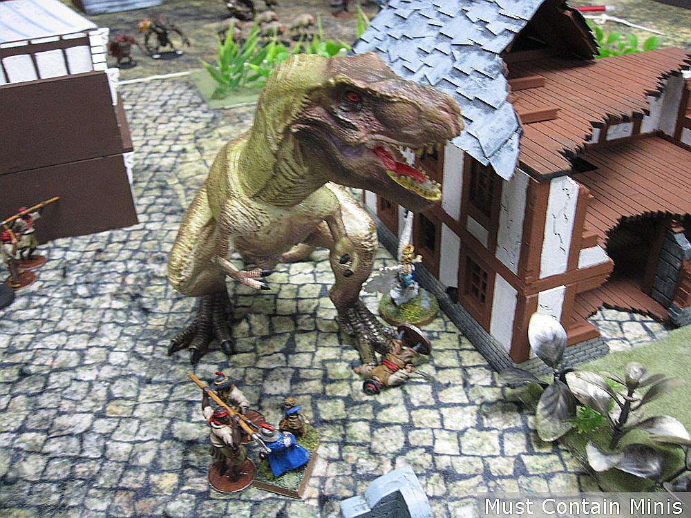 Frostgrave Ghost Archipelago - Dinosaur kills Heritor
