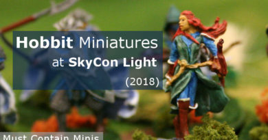 Showcase of Painted Hobbit Miniatures by Games Workshop at SkyCon 2018 Kitchener Ontario