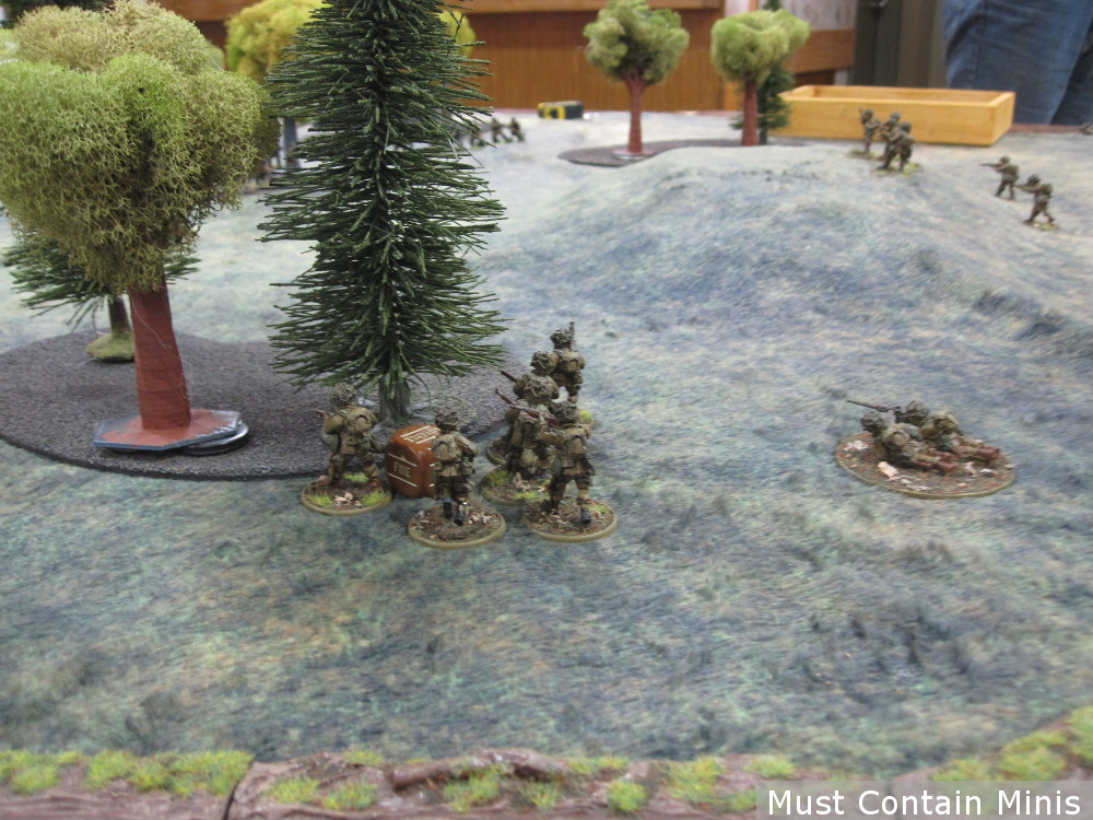Some American Soldiers in a WW2 Miniatures Game