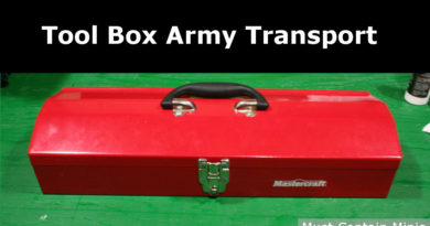Using a Metal Tool Box to transport miniatures