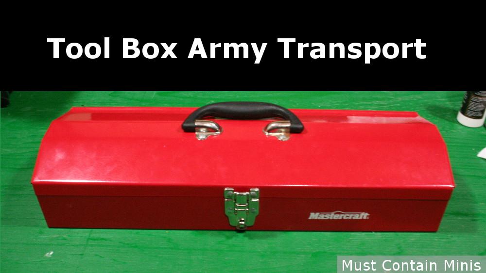 Using a Metal Tool Box for Miniature Transportation