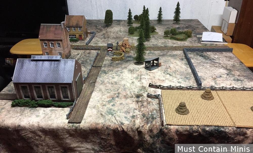 Bolt Action Campaign Sea Lion Battle Table - Terrain Set Up