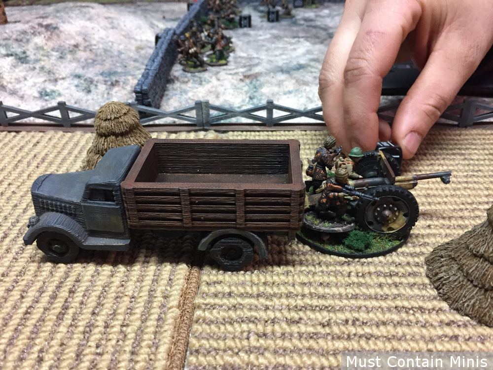 French Howitzer used by Germans in Bolt Action