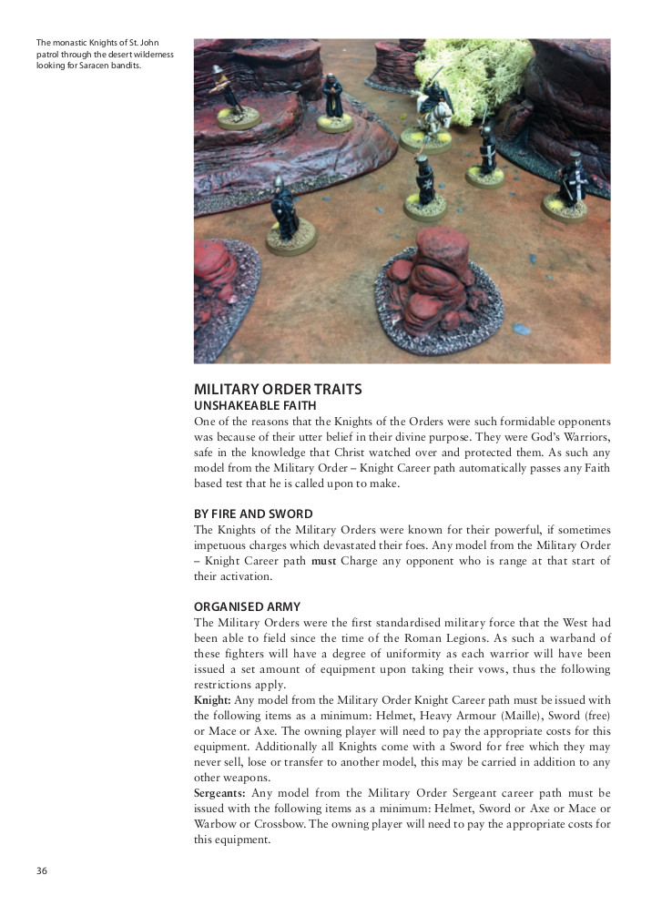 Outremer: Faith and Blood by Osprey Games Sample Page