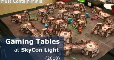 The Gaming Tables at SkyCon Light - 2018