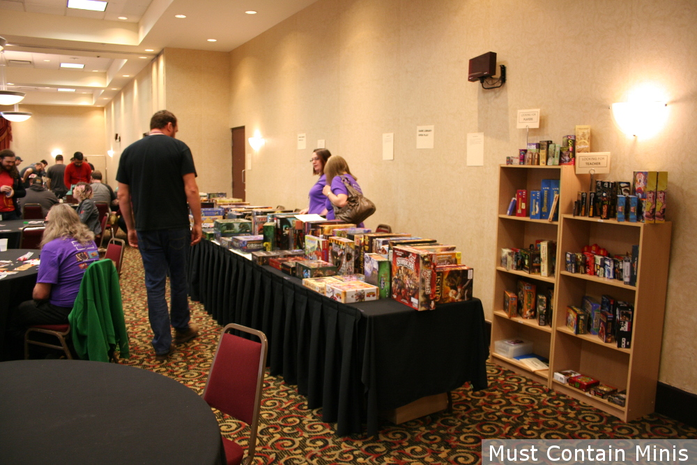 Board Game Library at SkyCon Light