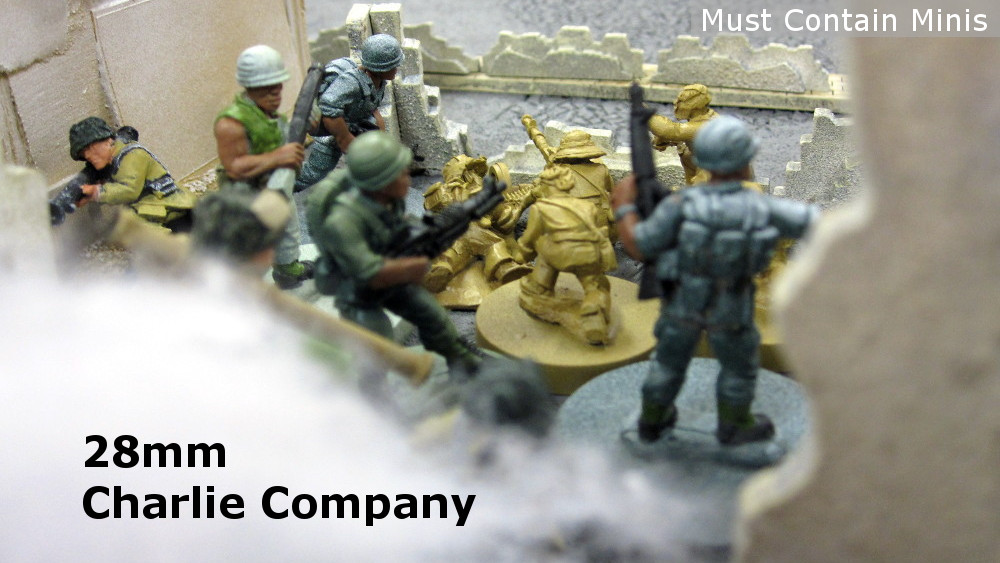 Charlie Company in 28mm