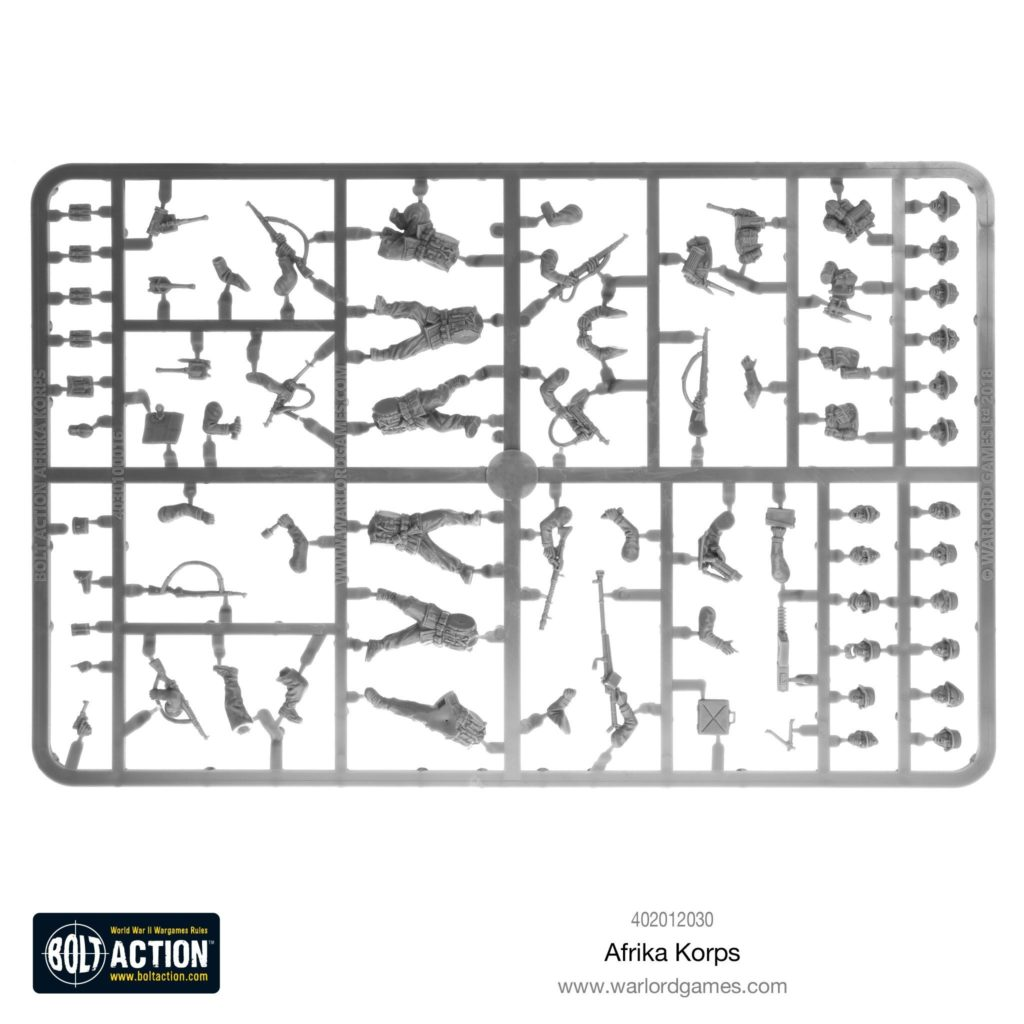 Bolt Action Afrika Korps Plastic Infantry Boxed Set DAK