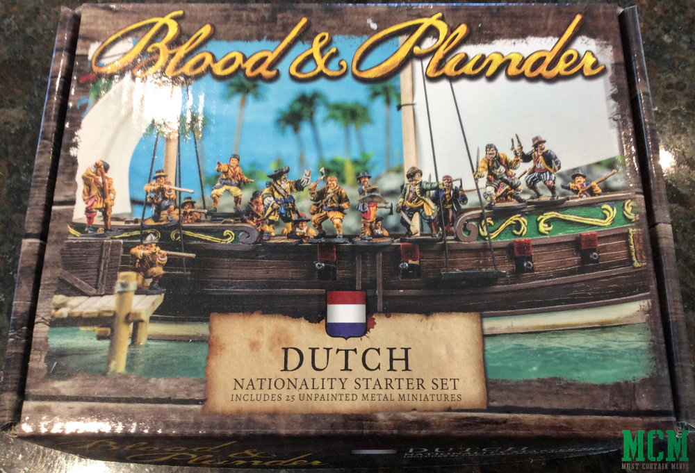 Box Art of the Dutch Nationality Starter set for Blood and Plunder by Firelock Games.
