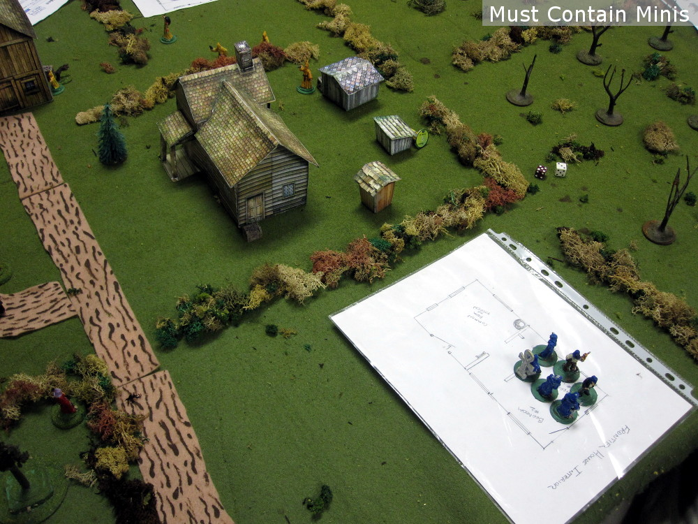 Using Paper Terrain in Tabletop Skirmish gaming with Miniatures