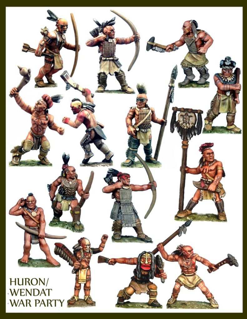 Crucible Crush's Huron Wendat War Party Boxed Set - Historical Miniatures North America