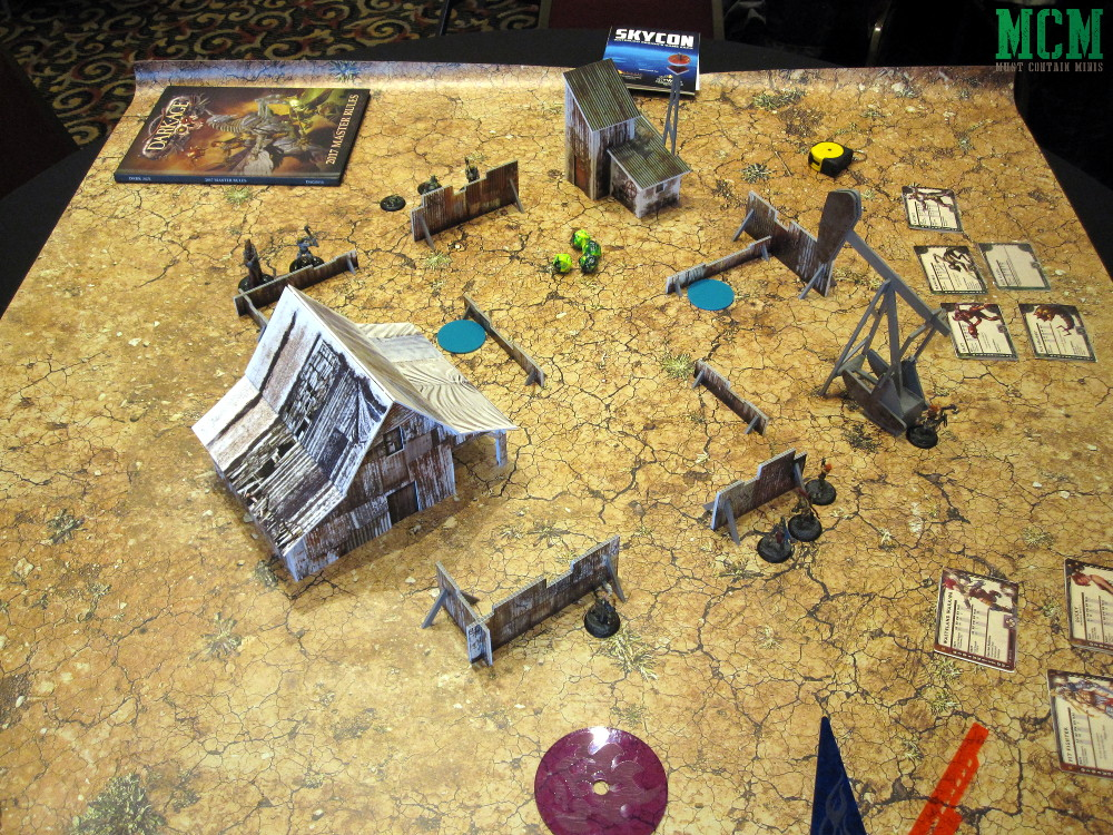 Dark Age Demo Table at SkyCon 2018. Ran by Myles Buck