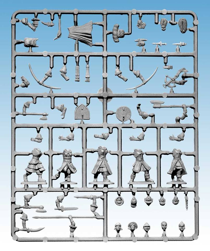 Female Soldiers Sprue for Frostgrave by North Star Military Figures and Osprey Games