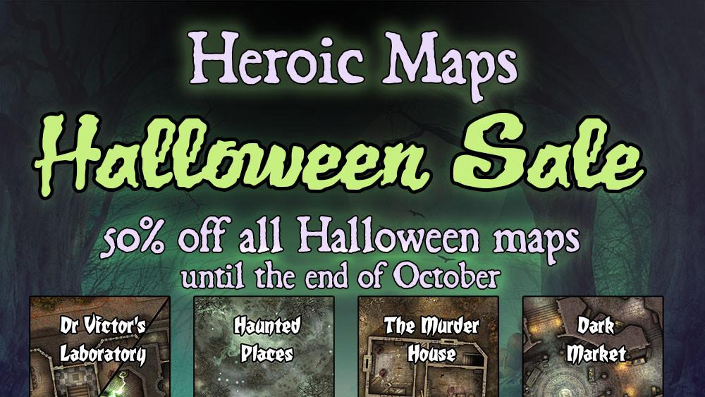 Heroic Maps Halloween Sale