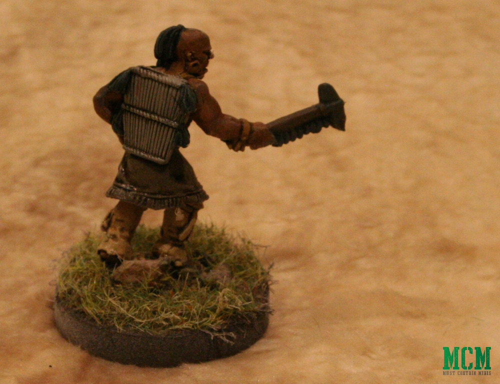 Native American Warrior in Wood Armour - Historical Wargaming