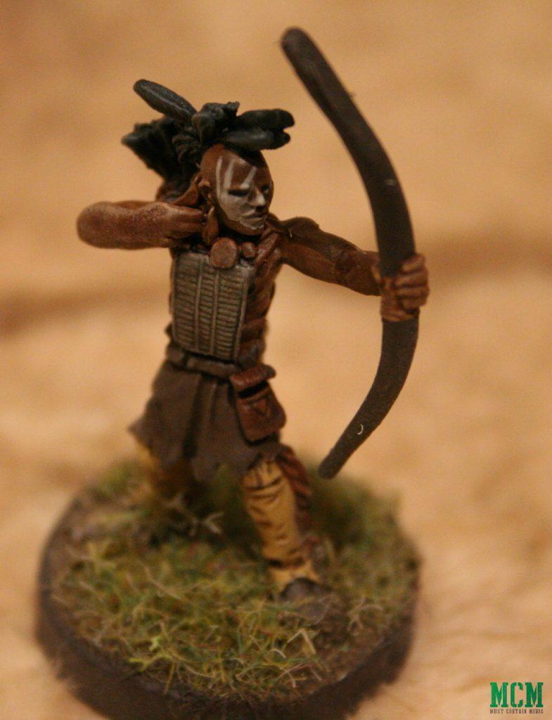 Huron / Wendat Archer Warrior Miniature Indigenous Miniatures