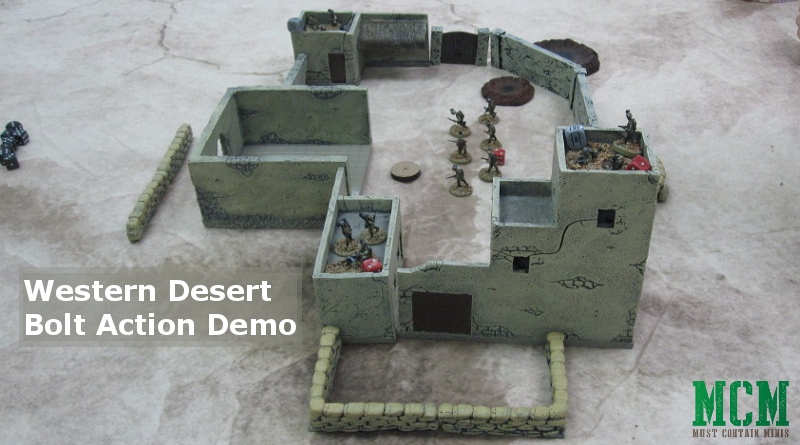 Bolt Action Demo of The Western Desert at Council Fires 2018