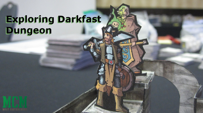 Darkfast Dungeons Paper Miniatures Battle Report