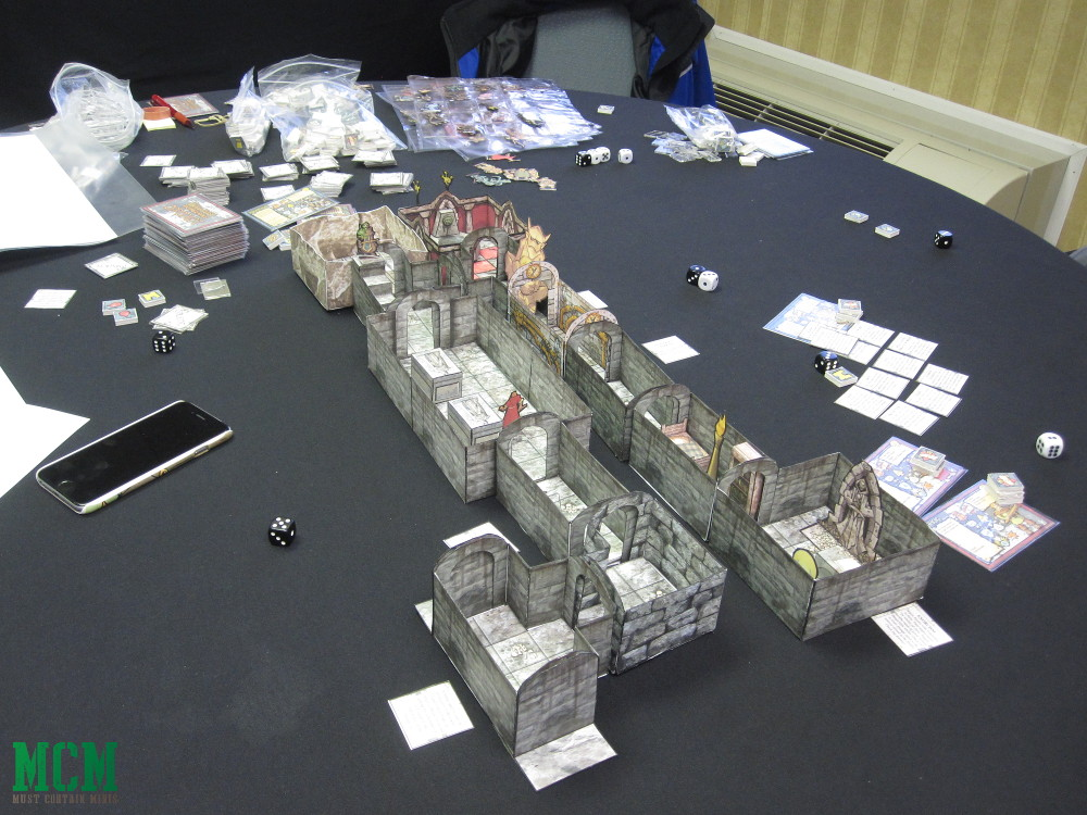 Paper craft 28mm dungeon - paper terrain and print and play games. Darkfast Dungeons - made in Canada